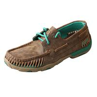Twisted X Women's Turquoise Bomber Moccasin Shoes