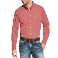 Ariat Men's Red And White Batson Shirt