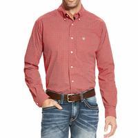 Ariat Men's Orange Blaze Batson Print Fitted Shirt