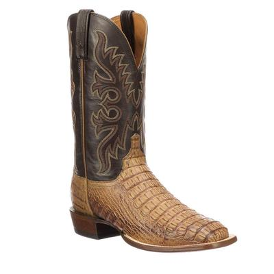 Lucchese Men's Fisher Hornback Caiman Horseman Boot