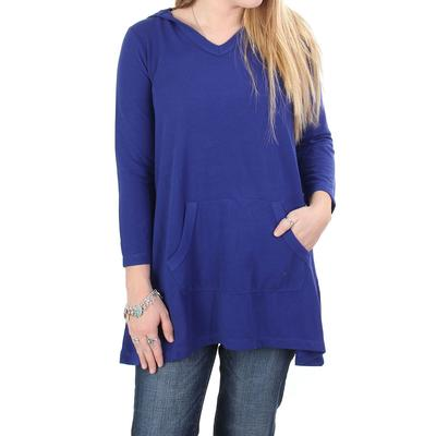 Anne French Women's Electric Blue Hoodie