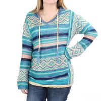 Wrangler Women's Blue Sweater Knit Hoodie
