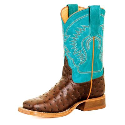 Anderson Bean Boy's Chocolate Ostrich Boots