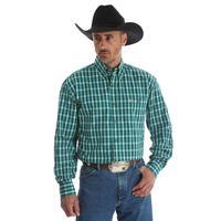 Wrangler Men's Green Print George Strait Shirt