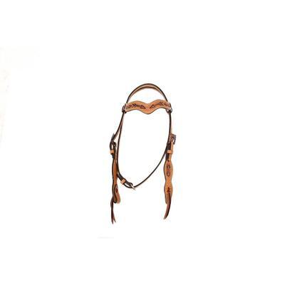 Alamo Saddlery Copper Arrow Wave Browband Headstall