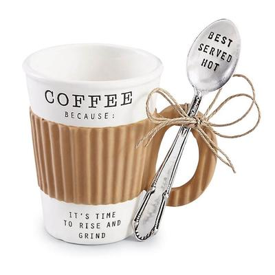 Mud Pie's Corrugate Sleeve Coffee Mug