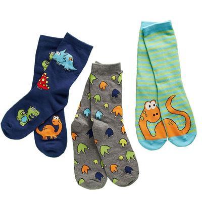 Set Of 3 Dinosaur Socks