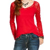 Ariat Women's Grandiflora Red Marina Top