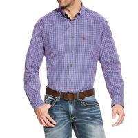 Ariat Men's Vibrant Blue Brewton Performance Shirt