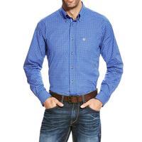 Ariat Men's Vibrant Blue Barado Fitted Performance Shirt