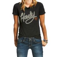 Ariat Women's Vintage Black Howdy Tee