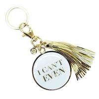 Mary Square's I Can't Even Tassel Key Chain