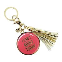 Mary Square's I Can't Adult Today Tassel Key Chain