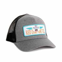 Red Dirt Hat Co.'s Heather Grey Native Eagle Patch Cap