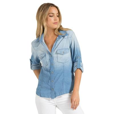 Bella Dahl Women's Fray Hem Western Shirt