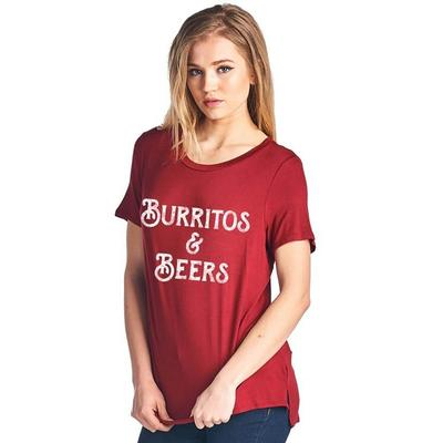 Burritos and Beers T-Shirt RED