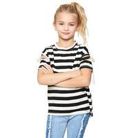 Hayden Girl's Shoulder Detail Striped Top