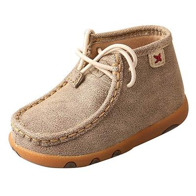 Twisted X Infant's Dusty Tan Driving Moccasins