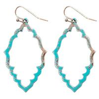 Turquoise and Copper Dangle Earring