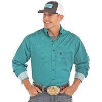 Panhandle Slim Men's Aqua and Black Tuf Cooper Shirt