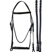 Bobby's Original Series Braided Snaffle Bridle Full Size