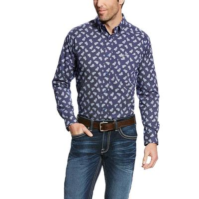 Ariat Men's Fitted Duval Print Shirt