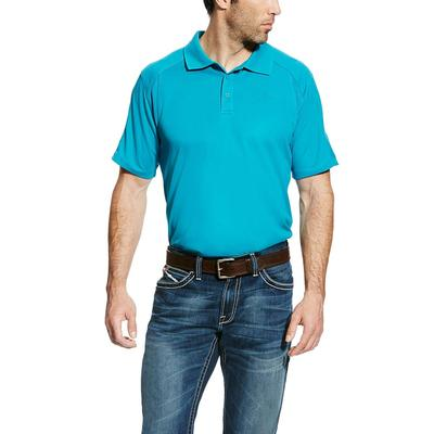 Ariat Men's Enamal Blue Ac Polo