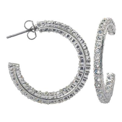 Montana Silversmith's Crystal Inside Out Hoop Earring