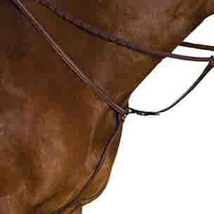 Collegiate Raised Breastplate With Running Martingale Attachment