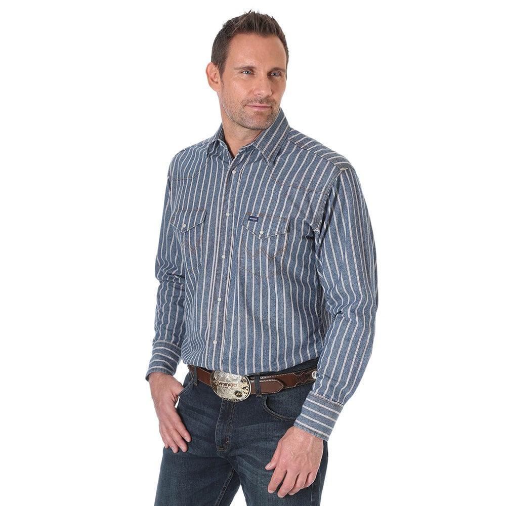 c84421dfb2 Wrangler Men s Authentic Cowboy Cut Denim Work Shirt