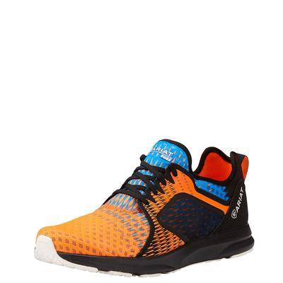 Ariat Men's Orange Ombre Fuse Mesh Shoes