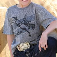 Cinch Boy's Heather Grey Bucking Bronco T-Shirt
