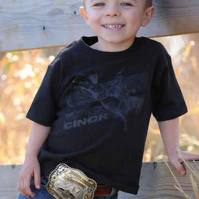 Cinch Boy's Black Bucking Bronco T- Shirt