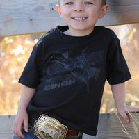 Cinch Boy's Black Bucking Bronco T-Shirt