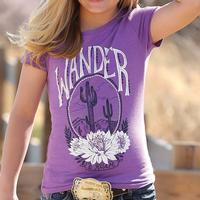 Cruel Girl Girl's Purple Wander T-Shirt