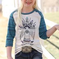 Cruel Girl Girl's Thunderbird Printed T-Shirt