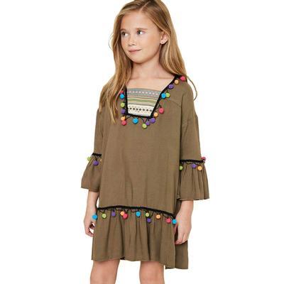 Hayden Girl's Pom Pom Dress