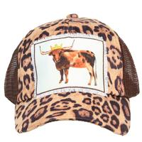 Women's Royal Steer Leapord Cap