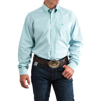 Cinch Men's Teal And White Stripe Shirt