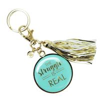 Mary Square's The Struggle Is Real Tassel Keychain