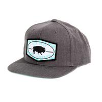 Red Dirt Hat Co.'s Heather Charcoal and Turquoise Beech-Nut Cap