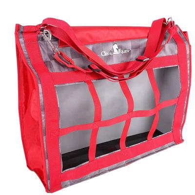 Classic Equine Top- Load Hay Bag - Check Red Print