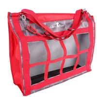 Classic Equine Top-Load Hay Bag - Check Red Print