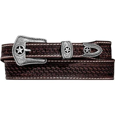 Justin Men's Lone Star Hand Tooled Belt