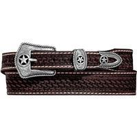 Justin Men's Lone Star Hand Tooled Belt