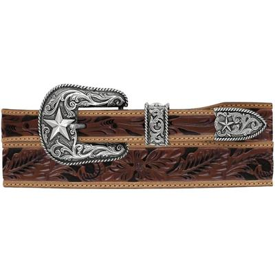 Justin Men's Floral Tool Taper Belt