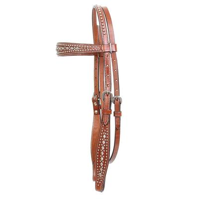Circle Y Diamonds & Spots Browband Headstall