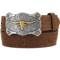 Tony Lama Boy's Brown Little Texas Belt