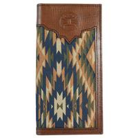 Hooey Men's Signature Rodeo Aztec Canvas Wallet