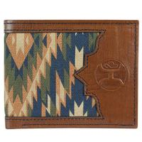 Hooey Men's Signature Rodeo Aztec Canvas Bifold Wallet